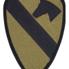 0001 Cavalry Division Scorpion Patch with Fastener (PMV-0001C)