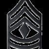 Black Metal Rank BM-109 First Sergeant (E-8)
