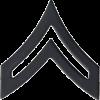 Black Metal Rank BM-103 Corporal (E-4)