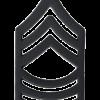 Black Metal Rank BM-108 Master Sergeant (E-8)