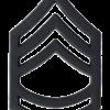 Black Metal Rank BM-107 Sergeant First Class (E-7)