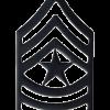 Black Metal Rank BM-110 Sergeant Major (E-9)