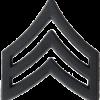 Black Metal Rank BM-105 Sergeant (E-5)