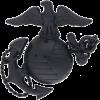 MC B401 Officer Service Cap Black Metal