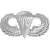 Black Metal Badge Parachutist
