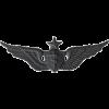 Black Metal Badge Senior Flight Surgeon