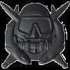 Black Metal Badge Special Operations Diver